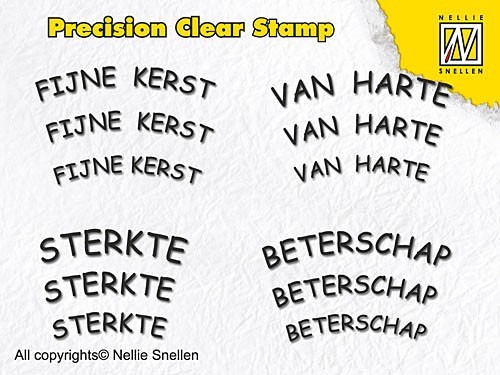 Nellie Snellen - Clearstamp - Precision - Dutch Texts-2 - APST002