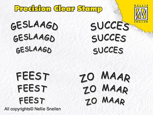 Nellie Snellen - Clearstamp - Precision - Dutch Texts - APST004