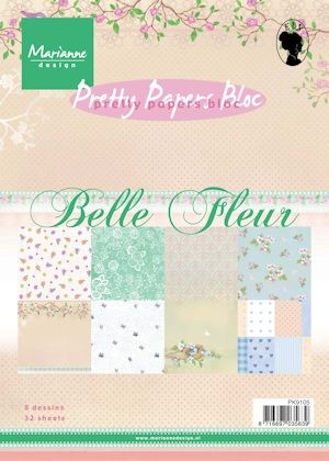Marianne Design - Paperpack - Pretty Papers - Belle Fleur - PK9105