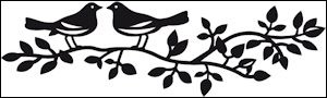 Marianne Design - Die - Craftables - Birds Silhouette - CR1264
