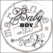 Marianne Design - Clearstamp - Baby boy (ENG) - CS0889