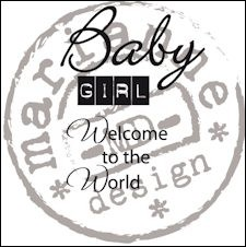 Marianne Design - Clearstamp - Baby girl (ENG) - CS0890
