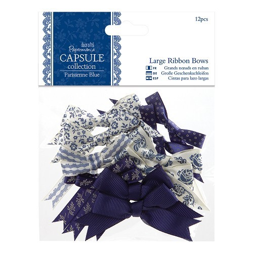 Papermania - Strikken / bows - Capsule Collection - Parisienne Blue - PMA367209
