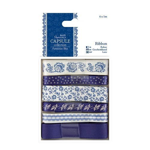 Docrafts / Papermania - Ribbon - Capsule: Parisienne Blue