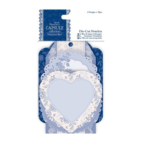 Papermania - Die Cut Design Paper - Capsule collection: Parisienne blue - PMA157218