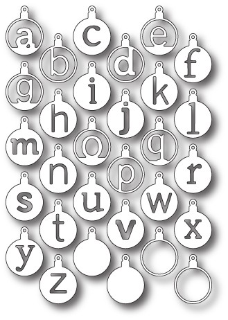 Memory box - Die - Cirque Alphabet Tags