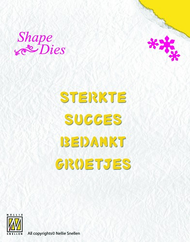Nellie Snellen - Die - Shape Die - Dutch texts-2
