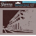 Sheena Decorative Stencil- Beach Huts