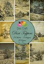 Dixi Craft - Paperpack - Toppers - 7 x 10cm - Vintage winter landscape color
