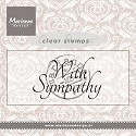 Marianne Design - Clearstamp - With sympathy