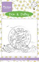 Marianne Design - Clearstamp - Don & Daisy - Scooting Daisy