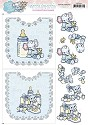Card Deco - Yvonne Creations - 3D-knipvel A4 - Hobbydots Sheets - Baby Girl