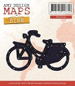 Card Deco - Amy Design - Die - Map Collection - Bike