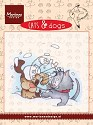 Marianne Design - Hetty Meeuwsen - Clearstamp - Cats & Dogs - Snow fun - CD3501