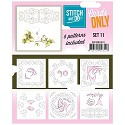 Card Deco - Stitch & Do - Oplegkaarten - Cards only - Set 11