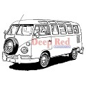 Deep Red - Cling Stamp - VW Bus
