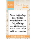 Marianne Design - Clearstamp - Liedje: Slaap kindje slaap