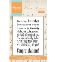 Marianne Design - Clearstamp - Liedje: Today is a birthday