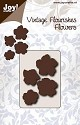 Joy! crafts - Noor! Design - Die - Vintage Flourishes - Flower - Bloem met 5 bladeren