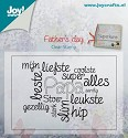 Joy! crafts - Clearstamp - Vaderdag teksten papa