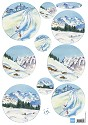 Marianne Design - Tiny`s - 3D-knipvel A4 - Tiny`s Snow Mountains