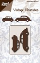 Joy! crafts - Noor! Design - Die - Vintage Flourishes - Fiat & VW Beetle