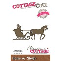 Cottage Cutz - Die - Horse with sleigh - CCE-445
