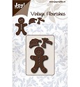 Joy! crafts - Noor! Design - Die - Vintage Flourishes - Gingerbread mannetje - 6003/0076