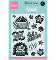 Marianne Design - Karin Joan - Clearstamp - Summer - Tekst (ENG) - KJ1714