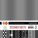 Card Deco - Paperpack - Designer Sheets - Classic Edition: Zwart