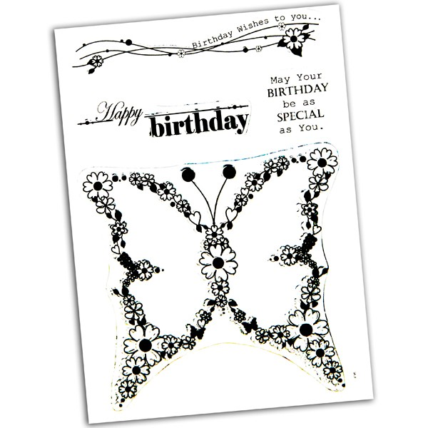 Anna Marie Designs - Clearstamp - Blooming Butterfly - NBLBUTTE