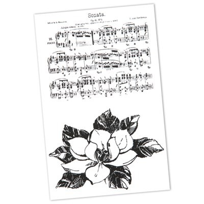 Anna Marie Designs - Clearstamp - Musical Flower