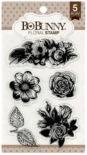 Bo Bunny - Clearstamp - Floral Stamp - 12105894