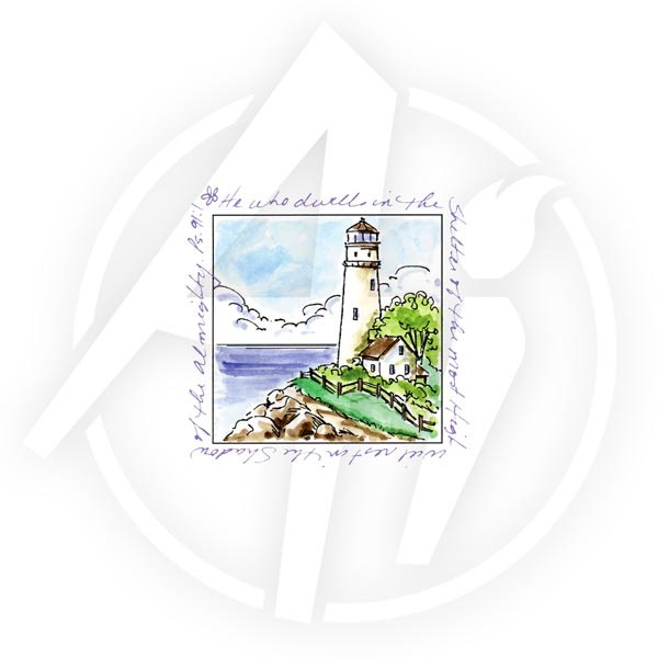 Art Impressions - Cling stamp - Window to the world - Lighthouse