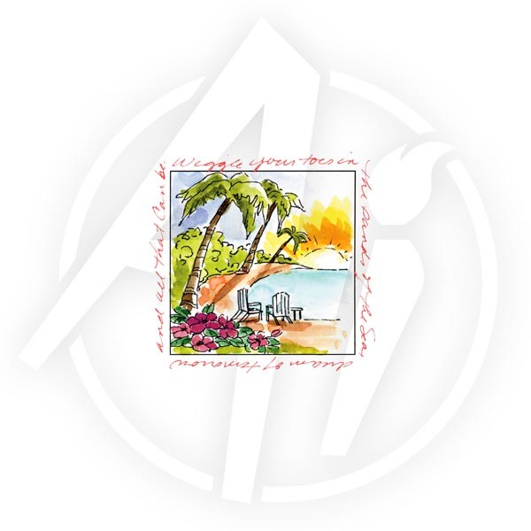 Art Impressions - Cling stamp - Window to the world - Island