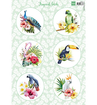 Marianne Design - Vintage - 3D-knipvel A4 - Tropical birds