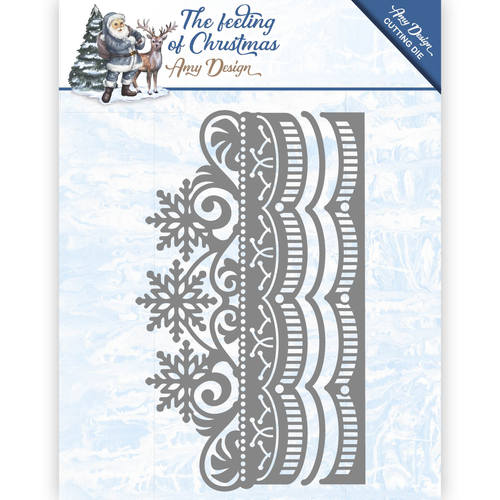 Amy Design - Die - The feeling of Christmas - Ice chyristal border - ADD10111