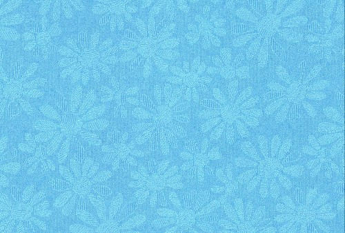 A4 Embossed - madelief: metallic blauw