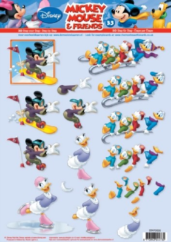 Studio Light - 3D-knipvel A4 - Mickey Mouse & Friends - STAPDIS35